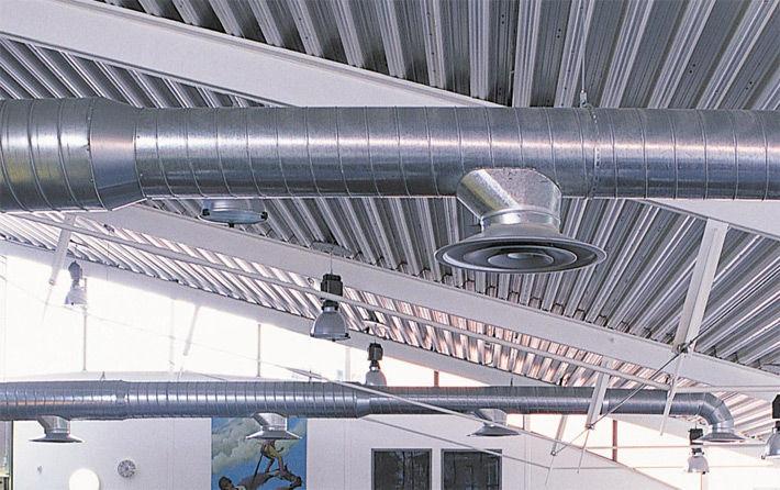 Воздуховоды системы дымоудаления изготавливаются из негорючих материалов