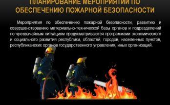 Планирование мероприятий по обеспечению пожарной безопасности зафиксировано законодательными актами
