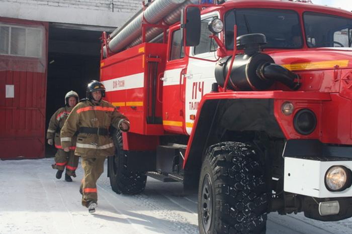 Выезд пожарной машины на пожар