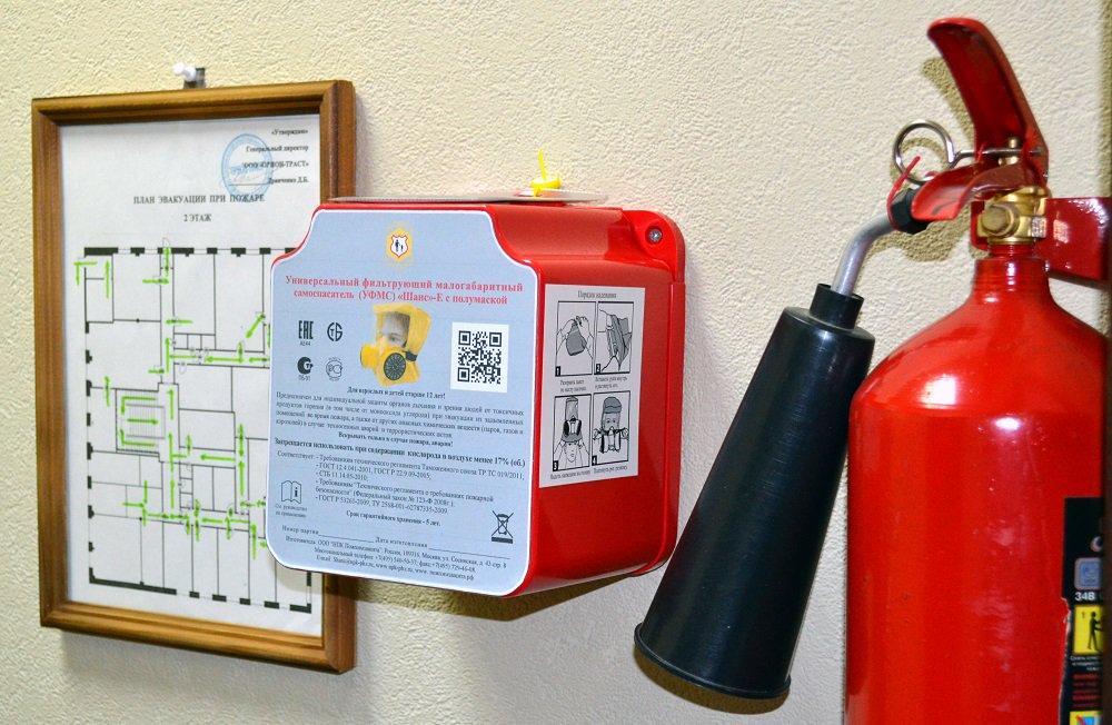 Огнетушители и планы эвакуации